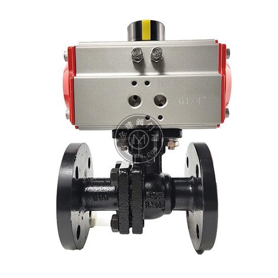 气动铸钢法兰球阀Q641F-16C法兰切断球阀