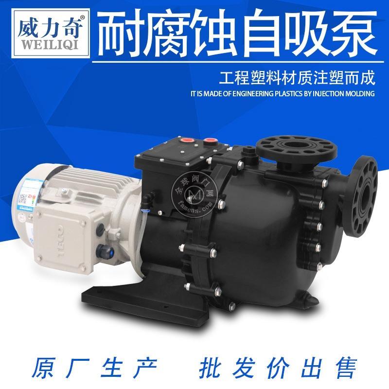 威爾奇耐酸堿廢水污水處理自吸泵