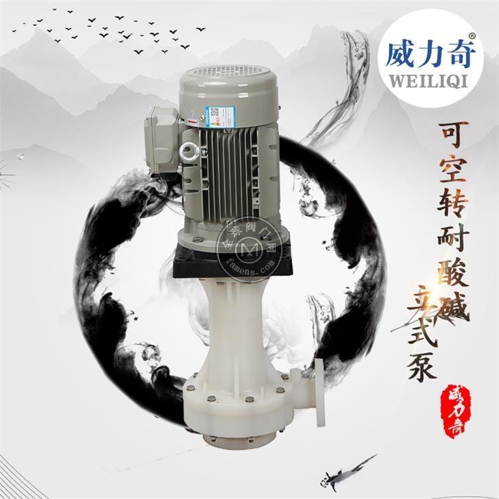威爾奇耐酸堿槽外塑料立式泵