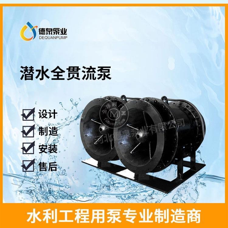 湿定子全贯流潜水泵制造商