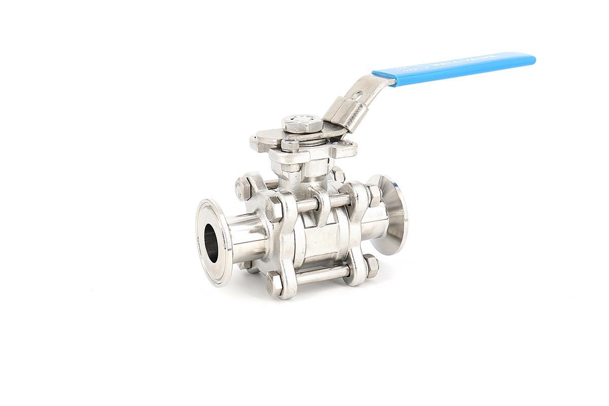 興沃科技專業生產不銹鋼衛生級三片式球閥