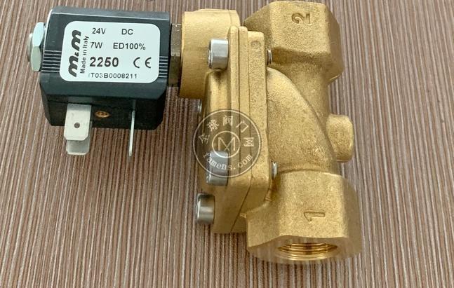 意大利M&M型號B204DBZ黃銅蒸汽螺紋電磁閥
