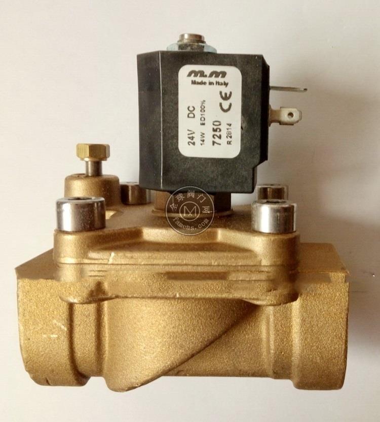 意大利M&M型号CD293DBYL黄铜法兰电磁阀