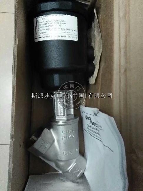 斯派莎克PF61G-1NC不銹鋼304氣動螺紋角座閥
