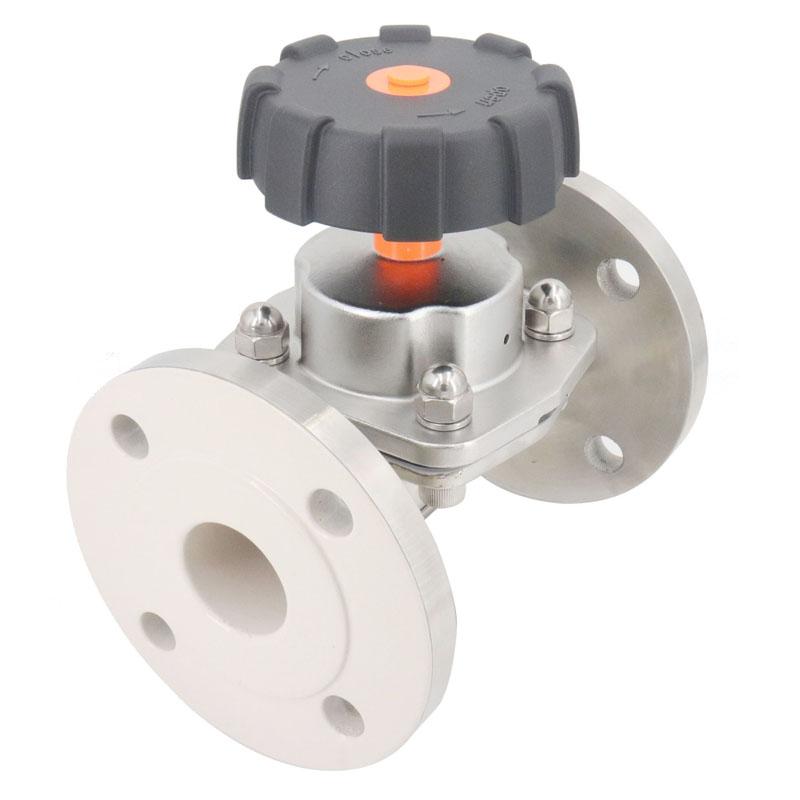 兴沃科技专业生产不锈钢卫生级法兰隔膜阀