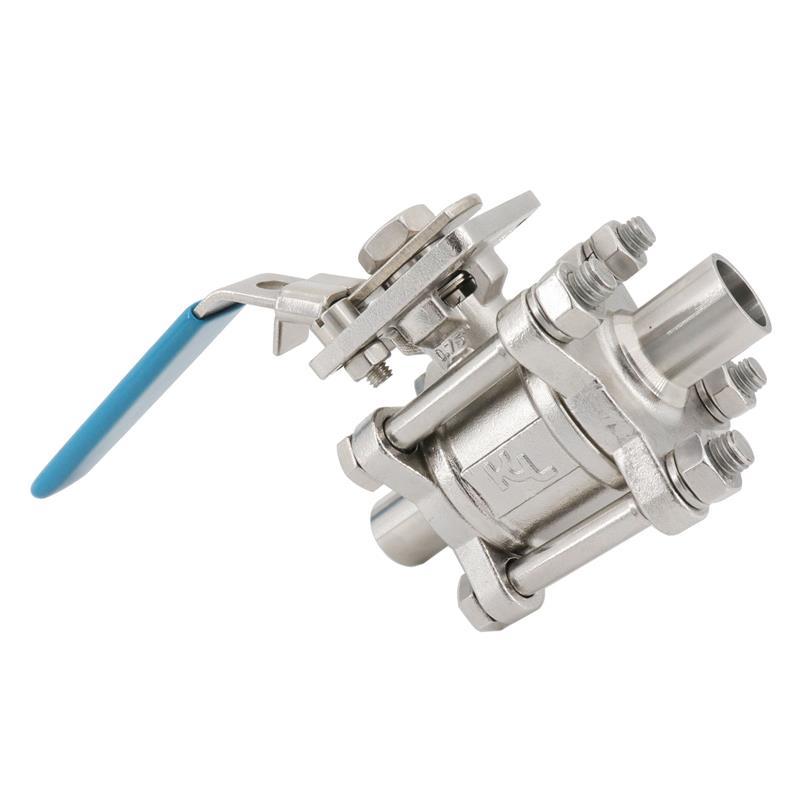 興沃科技廠家直銷衛生級三片式焊接球閥