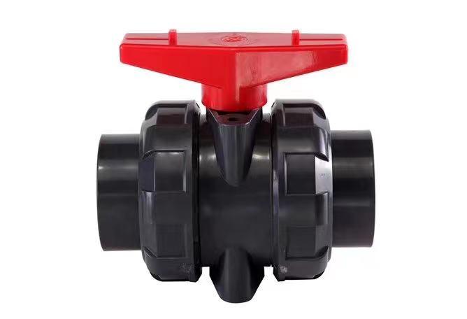 武峰WF工業給水upvc雙由令球閥 固定雙活接閥門 水管快裝閘閥開關