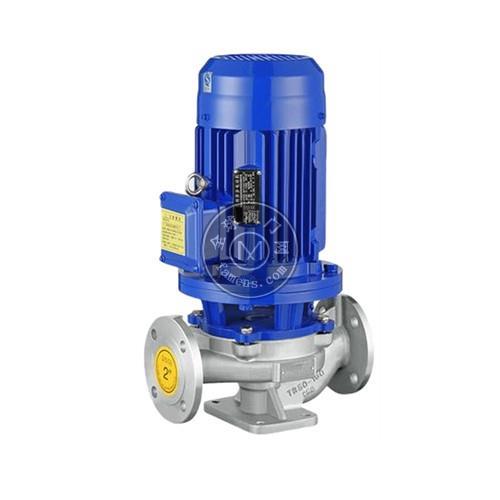 礬泉水泵-不銹鋼單級立式管道離心泵