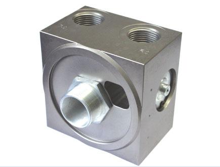 螺桿空壓機溫控閥總成帶油濾底座
