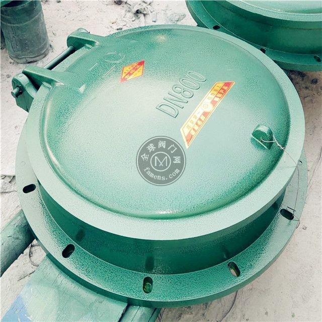 顺禹DN800管道用圆形广东玻璃钢拍门适用广泛