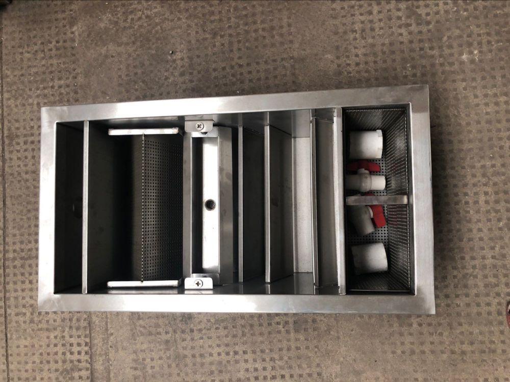 廚房餐飲殘渣泔水隔渣除渣油水分離裝置油污分離器水池隔油設備