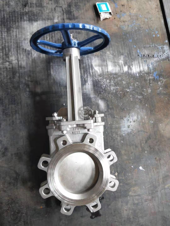 PZ73W-10P不銹鋼明桿刀閘閥,不銹鋼插板閥
