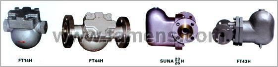 SFT14、SFT44、SUNA杠杆浮球式蒸汽疏水阀