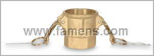 黄铜快速接头D型1/2寸3/4寸凸轮锁紧内螺纹母接头