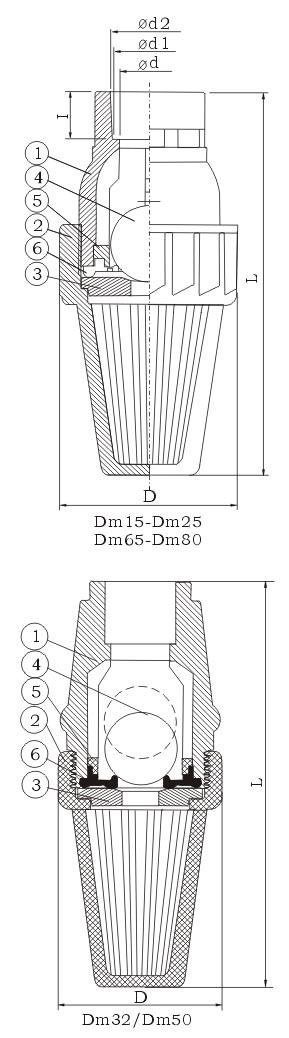 底阀结构尺寸图