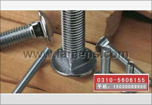 马车螺栓,马车螺丝,半圆头方颈螺栓,马车栓