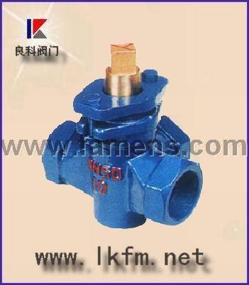 旋塞阀厂家:X14T-1.0三通铜芯内螺纹旋塞阀