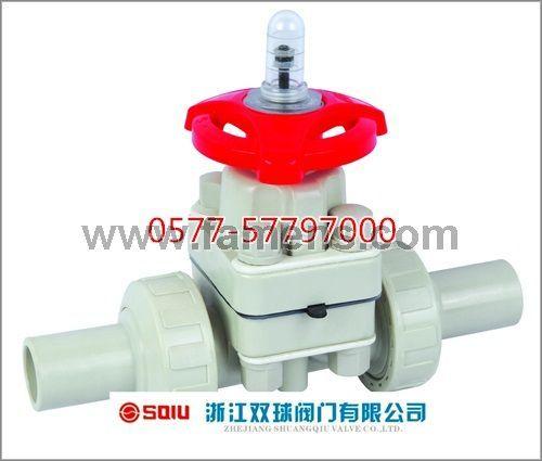 承插对焊隔膜阀(PPH)G61-10U