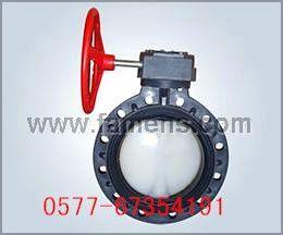 PVC-C塑料防腐涡轮蝶阀