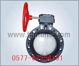 PVC-C塑料防腐渦輪蝶閥