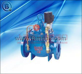 600X水力电动控制阀 隔膜式水力电动控制阀