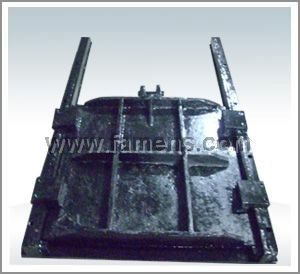 手轮启闭铸铁镶铜方形闸门,手电两用方闸门