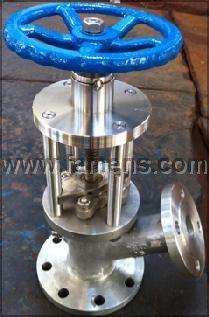 HGU45H柱塞式不锈钢放料阀|高温铸钢柱塞式放料阀