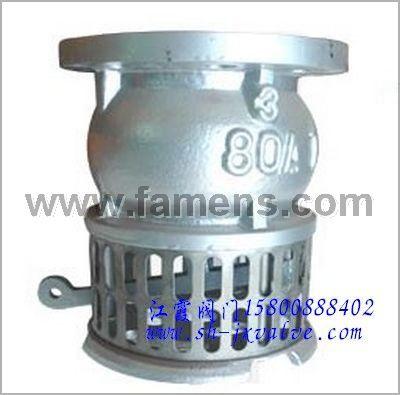 JIS-10K拉柄式铸铁底阀