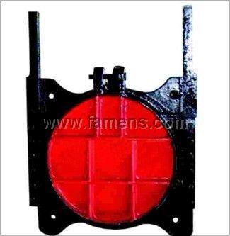 鑄鐵鑲銅方閘門