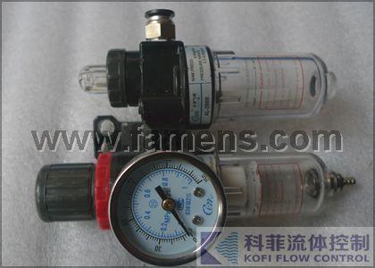 气源处理三联件(减压阀、过滤器、油雾器)