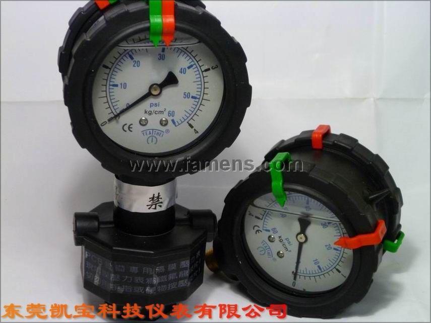 双面PP隔膜压力表 隔膜压力表 单面PP隔膜压力表 一体PP隔膜压力表 东莞PP压力表