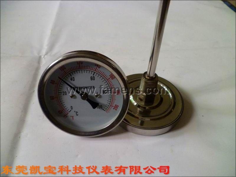 径向双金属温度计 轴向双金属温度计 卡盘温度计 隔膜温度计 隔膜双金属温度计 东莞温度计 卫生型温度计