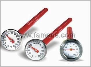 25MM便携式双金属温度计向双金属温度计 卡盘温度计 隔膜温度计 隔膜双金属温度计 东莞温度计 卫生型温度计