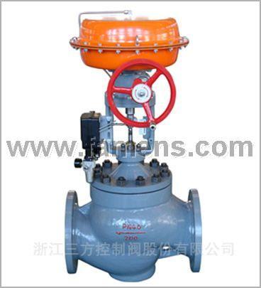 气动薄膜套筒调节阀(侧装手轮)