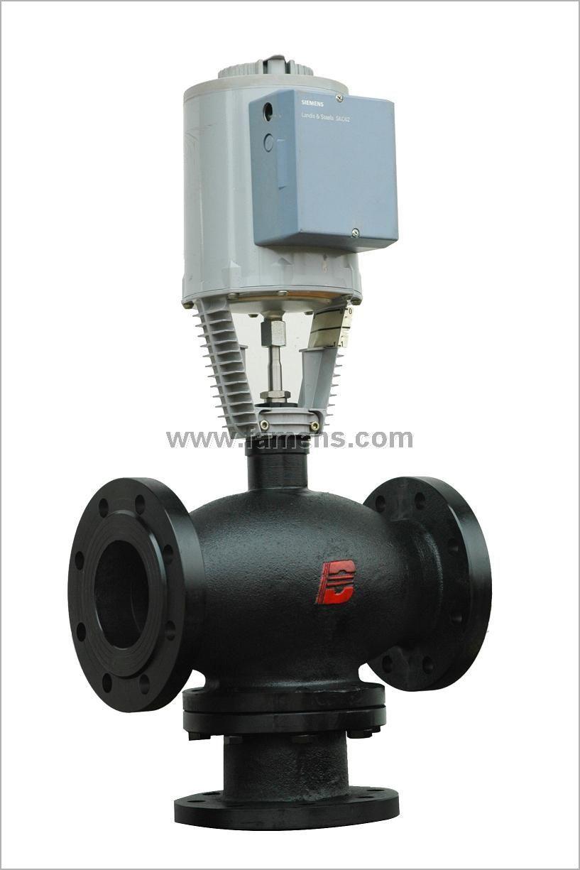 西门子电动二通调节阀/温控阀水阀/电动三通调节阀水阀