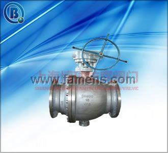 蜗轮传动不锈钢金属密封固定球阀