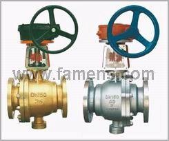 QY341F-25P,YQ641F-40P蝸輪、氣動氧氣專用球閥