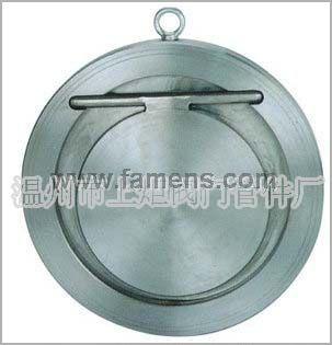 溫州閥門生產廠家供應優質H74W對夾式圓片式止回閥,DN300,碳鋼