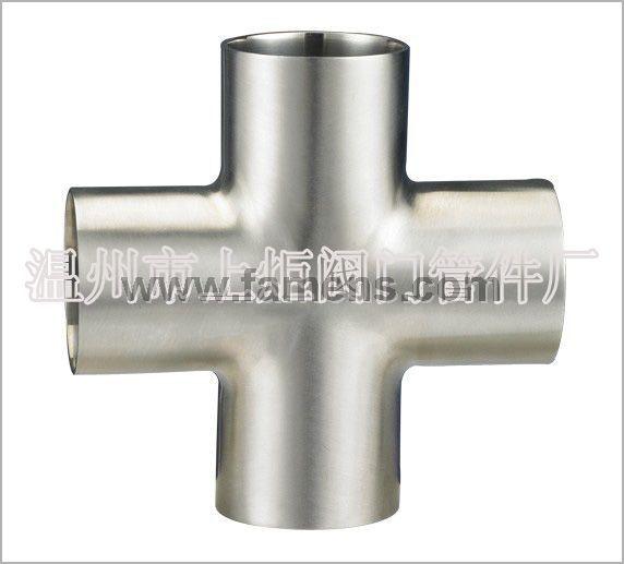 卫生级不锈钢焊接四通,快装四通,四通管件,四通价格,产地温州