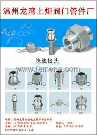 E,F,CP,DP,F法兰,C法兰型快速接头生产厂家,温州接头供应商