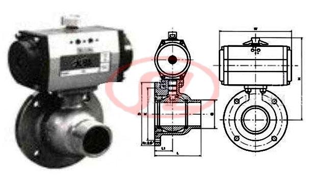 气动三联件结构图; 气动放料球阀-立正气动阀门