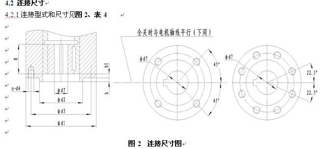 dqw电动执行器简介 q型阀门电装连接尺寸-上海湖泉