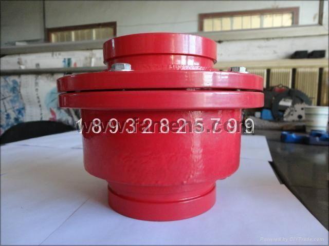 沟槽消声止回阀广泛应用于输送流体管道的给排水,消防,空调,燃气图片